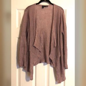 Eileen Fisher Pink Open Front Waterfall Cardigan